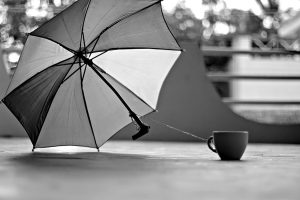 umbrella and mug